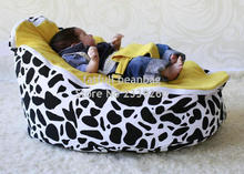 COVER ONLY, NO FILLINGS - Baby Bean Bag No Filler Original yellow Seat BEAN BAG Sofa Chair Infant Bean Bed
