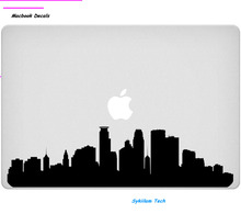 Minneapolis  City Skyline for apple Sticker Macbook Skin Air 11 12 13 Pro 13 15 17 Retina Decal Laptop Wall Car Vinyl Logo