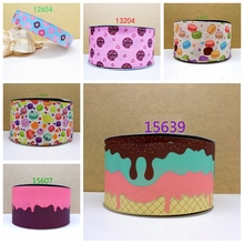 Free shipping 2017 new arrival ribbons Hair Accessories ribbon 10 yards  printed grosgrain ribbons 15639