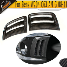 Carbon Fiber Front Fender Vent cover for Benz auto side vent cover for W204 C63 AMG bumper 2008-2011(Hong Kong)
