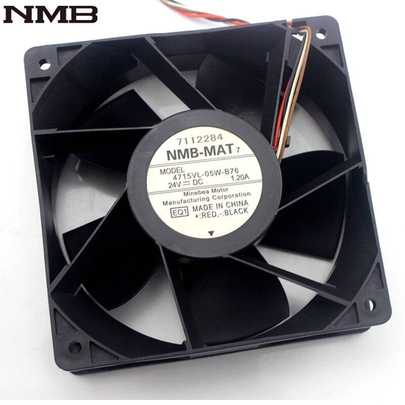 NMB 4715VL-05W-B76 12038 120*120*38mm 12CM 24V 1.20A inverter cooling fan<br>