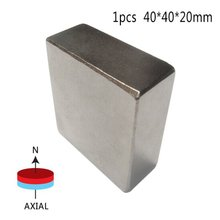 1 pcs Block 40x40x20mm N52 Super Strong Rare Earth magnets Neodymium Magnet  high quality