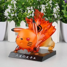 Anime Figure 12CM Pikachu Cos Naruto PVC Action Figure Collectible Toy Doll Model Christmal Gift