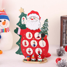 2017 Xmas Wooden Decoration Dolls Santa Claus Furnishing Articles Ornament Table Desk Crafts Toy Christmas Decoration R120