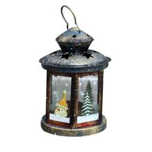 Classic Glass Retro Lantern Windproof Table Candle Holder Antique Wedding Home Garden Bar Wooden Candle Lantern 3