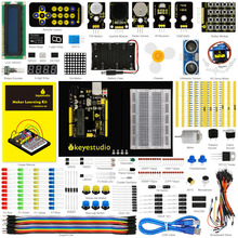 Buy Keyestudio Updated Maker learning kit /Starter kit arduinos starter kit + User Manual+UNOR3+1602LCD servo+Chassis+PDF projet for $45.00 in AliExpress store