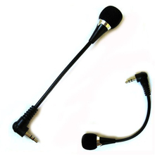 China 3.5mm Jack Flexible Microphone Speaker Black Mini Mic PC Laptop Notebook Desktop Skype(China)