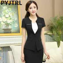 Womens Summer Short Sleeve New Designs Of Ladies Suits Business Outfits Formal Fashion Office Skirt Suit Work Wear Uniform