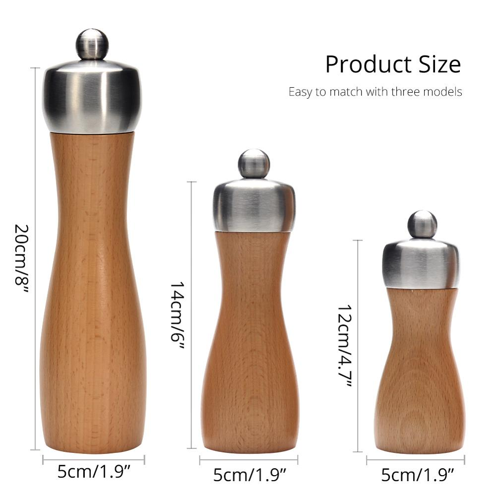 Premium Wooden Salt and Pepper