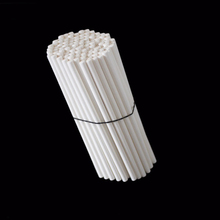 100pcs Useful 70mm Solid White Pop Sucker Sticks Chocolate Cake Lollipop Lolly Candy Making Mould Paper sticks