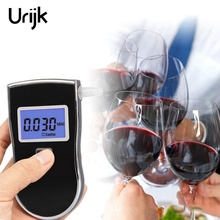 Urijk Mini Pocket Breath Alcohol Tester Police Digital LCD Display High-precision Breathalyzer Test Meter with Detachable Mouth(China)