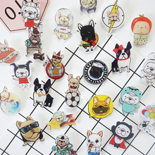1 PCS Free Shipping dog Brooch Cartoon Animal Acrylic Badges Backpack Accessories Badge Decoration Brooches