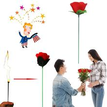 Torch To Rose Stage Magic Tricks Valentine Girlfriend Gifts Funny Toys(China)