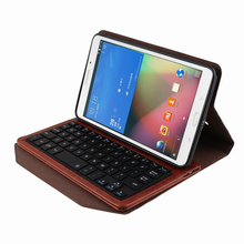 "Universal Folio PU Leather Bluetooth Removable Keyboard Case Cover Retail For Samsung Galaxy Tab 4 8.0 inch T330 8"" Tablet PC"