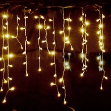 220V/110V christmas 3.5m Droop 0.3-0.5m curtain icicle string led lights New year Garden Xmas Wedding Party outdoor decoration