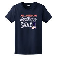 All American Southern Girl Cowgirl Boots Ladies T-Shirt,Short T Shirt,Original Design Tshirt Casual Soft
