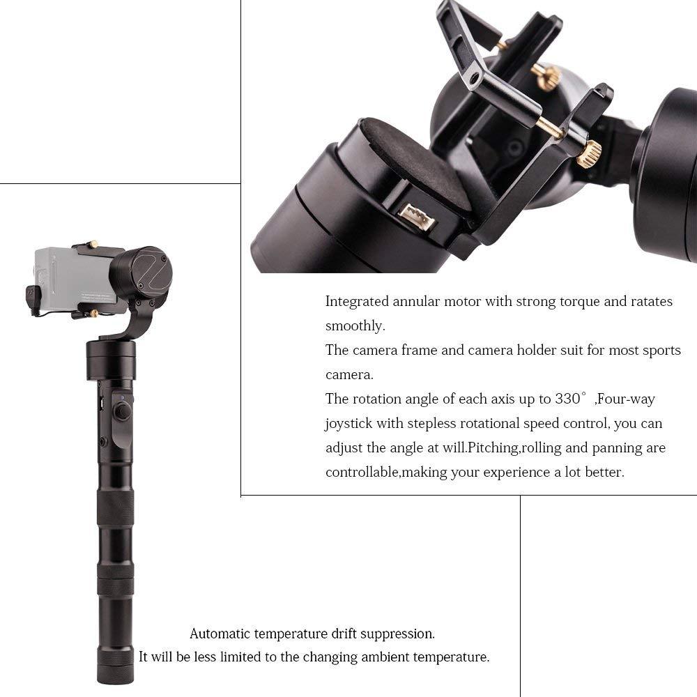 Zhiyun Evolution 3-Axis Handheld Gimbal Stabilizer for GoPro Hero 6 5 4 3 XiaoMi Yi SJ4000 SJ5000 Sport Cameras,CNC Aluminum1122