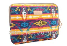"Free Shipping, 14""14.1""14.4"" Canvas Indian Design Laptop Case Sleeve Pouch Notebook Bag Cover For Dell Lenovo"