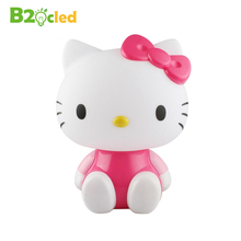 Cute cartoon Hello Kitty LED eye lamp bedside lamp reading creative gifts to students and white-collar workers warm night light(China)