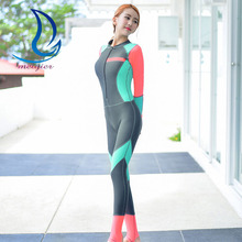 MEIYIER Women Wetsuits Triathlon Patchwork Diving Suit Slim One-Piece Swimwear Zipper Bodysuit Female Spearfishing Wet Suits(China)