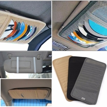 Free Shipping Car DVD/CD Holder 12 Discs Storage Case Organizer Sun Visor Sleeve Wallet Holder Clip Bag Pocket Car Accessories(China)