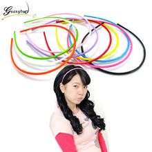 Cute Candy Colored Plastic Head Hoop For Women Children Hair Headdress Hairbands Hair Bands Hair Jewelry Accessories