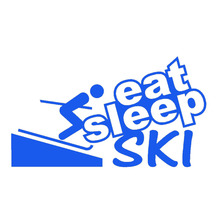 Eat Sleep Ski Sports Enthusiasts Funny Car Sticker for Window Bumper Canoe and All Smooth Surface Car Decor Vinyl Decal 9 Colors