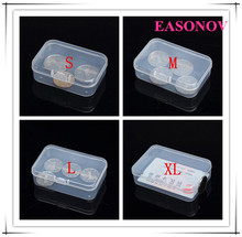 High-quality rectangular PP transparent plastic box storage box small plastic box 5 pieces / piece free shipping(China)