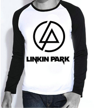 New Mens Hot Band Linkin Park T-shirt Full Sleeve Fashion Linkin Park Logo Top Tees tshirt For Teenages(China)