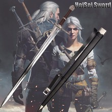 Cosplay The Witcher 3: Wild Hunt Geralt of Rivia Sword Game Amine Stainless Steel Sharp Edge Real Weapon