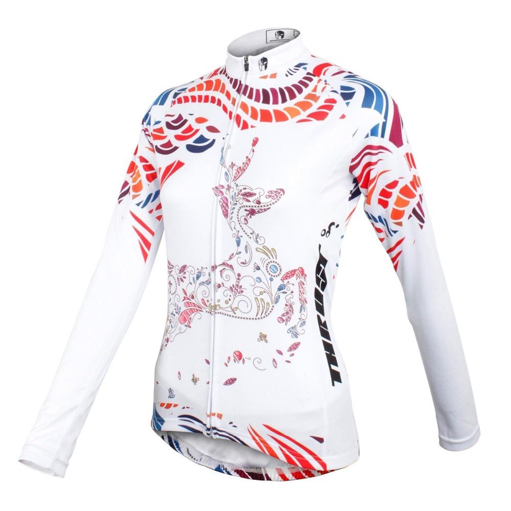 PALADIN  Reindeer  Womens Long Sleeve Cycling Jersey Bike Shirt Cycling Clothing<br><br>Aliexpress