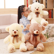 Fancytrader Big Fat Love You Plush Bear Toys 51inch Jumbo Stuffed Bears Doll White Brown Available for Girlfriend