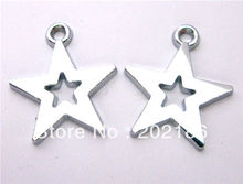 wholesale 100pcs/lot Star Hang Pendant Charm fit necklace cell phone charms(China)