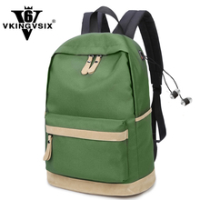 2017 New Fashion Waterproof backpacks with Headphone jack 14-17 Inch Laptop Backpack notebook mochila for teenagers school bags