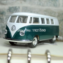 Brand New KT 1/32 Scale Germany Volkswagen Hippy Bus Diecast Metal Pull Back Car Model Toy For Kids/Christmas/Gift(China)