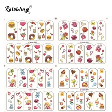 2017 New Arrival Tasty food And Beautiful Girls Mixed Series Nail Art Water Decals Fingernail Stickers Nails And Tools