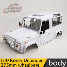 1:10 Rover Defender high quality ABS Plastic RC Rock Crawler 275mm wheelbase best DIY simulation Shell bady for RC4WD D90 Axial(China)