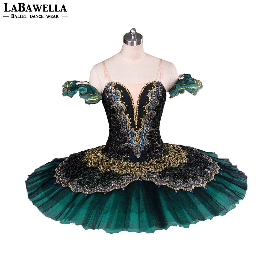 Women Pancake Ballerina Platter Stage Costume Tutu BT8941G Professional Ballet Tutus Jade La Esmeralda Adult