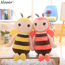 Nooer Kawaii Soft Baby Play Bee Plush Toys For Children Bee &Animal Stuffed Plush Doll Pillow(China)