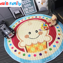 Kawaii Floor Children Playing Blanket Carpet Dolls Storage Bag Laundry Basket Kid's Toys Plaything Organizer Storaging Bags