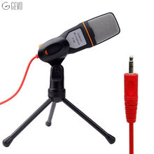 GEVO SF-666 Computer Microphone Professional 3.5mm Wired Handheld Vocal Studio With Stand Mikrofon For Desktop PC Karaoke