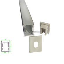 10 X 1M Sets/Lot U type Anodized aluminium profile channel from Aluminium profile led manufacturers for recessed wall lights(China)