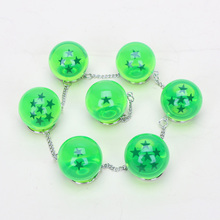 new green color Crystal Balls 7pcs/set 2.5-3.5cm 7 Stars Dragon Ball Z Crystal Balls PVC Figures Toys Keychain Pendant(China)