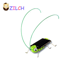 New Magic Mini Plastic Solar Energy Powered Grasshopper Toys Best Gift Electric Animal Toys For Children Kids Retail Package(China)