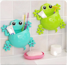 Creative Cartoon Toothbrush Rack Gecko Wall Suction Bathroom Sets Toothbrush Holder Hot Sale 4 Colors Fast Shipping(China)