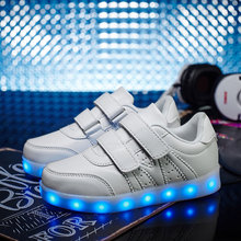 USB Charging Glowing Luminous Sneakers Led Slippers Girls Shoes Kids Trainers  Tenis Led Simulation White/Black/Sliver Sneakers