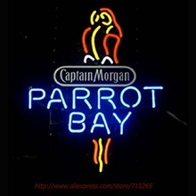 CAPTAIN MORGAN PARROT BAY Neon Sign Neon Bulbs Led Signs Real Glass Tube Room Restaurant Hotel Decorative Store Display 17x14