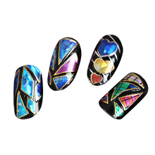 1 Sheet Multi 3D Irregular Aurora Finger Nail Art Stickers Glitter Fingernail Nail Decal DIY Nail Art Decorations Manicure Tools