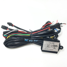 Universal 12V Car DRL Controller Daytime Running LED Light Lamp Relay Harness Control On Off Dimmer