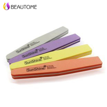 Sunshine 1pcs High Quality Brand Fancy Nail File Buffer Sponge Manicure Tool Designs Pumice Tofu Article Polishing Sand Files